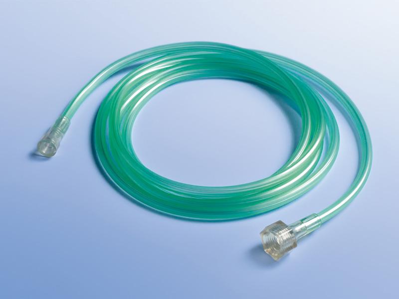 Kyslíkové spojovacie hadice, 01.000.02.099, Dĺžka 213 cm, so štandardným a univerzálnym konektorom so závitom