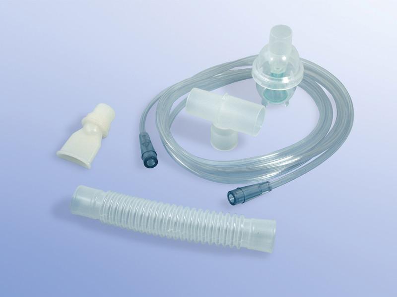 Nebulizátory, 01.000.08.900, Typ 8900 pre dospelých s nebulizačnou nádobkou, T-spojkou a so závitovým a štandardným konektorom