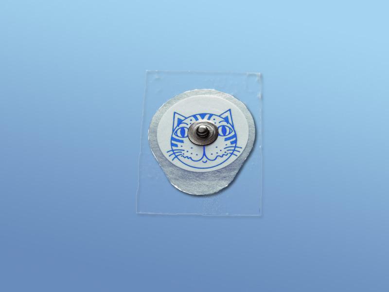 EKG - elektródy pre deti, 19.000.00.462, Typ 462 pre deti, z mikroporéznej textílie, snímač Ag/AgCl, s tuhým gélom