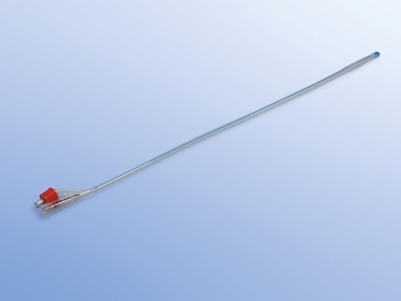 Permanentné katétre silikónové Typ Foley /Nelaton/, 23.000.14.218, 2 - cestné s objemom balónika 5 - 10 ml, Ch 18
