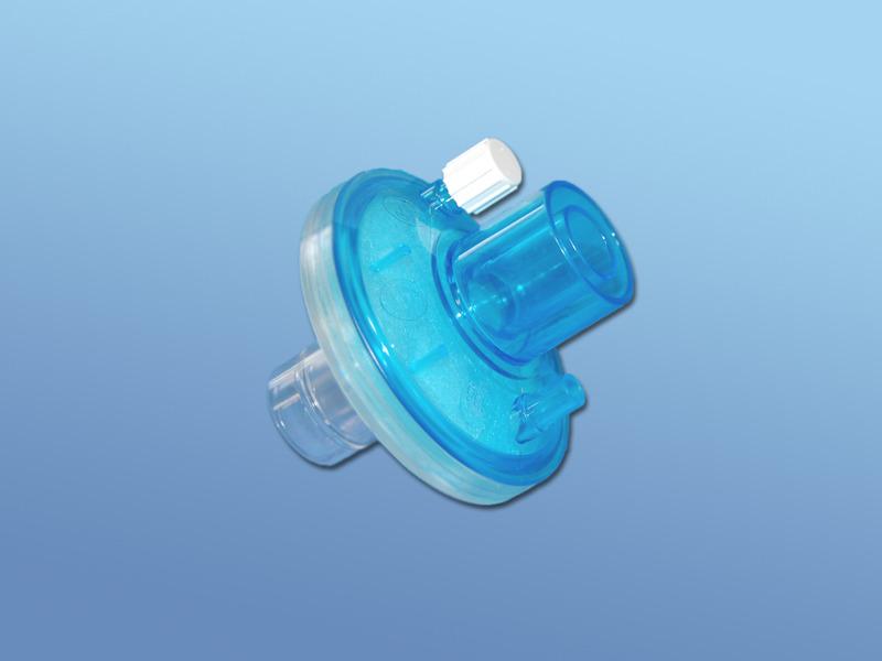 Bakterálne-vírusové filtre, 43.009.05.707, Okrúhly s CO2 portom, pre dospelých, sterilný