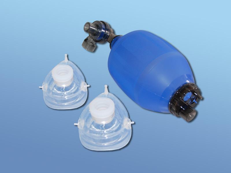Ručný silikónový resuscitačný vak DAHLHAUSEN, 51.500.00.300, Súprava pre dospelých vrátane masiek č.4 a 5
