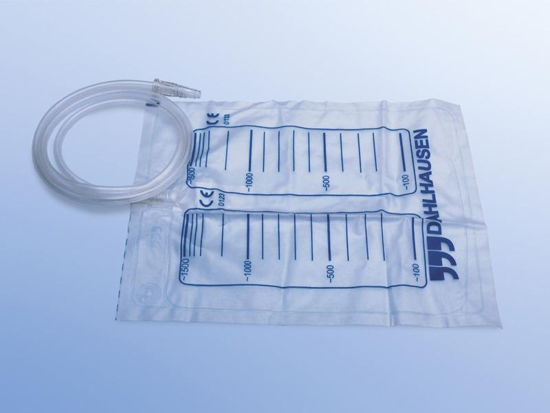 Močové vrecká, 53.076.15.090, Močové vrecko 1,5 L, sterilné so spätným ventilom