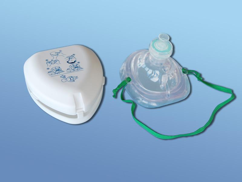 Maska pre poskytnutie prvej pomoci, 74.000.00.001, Tvárová s jednocestným ventilom, filtrom a pripojením na kyslík