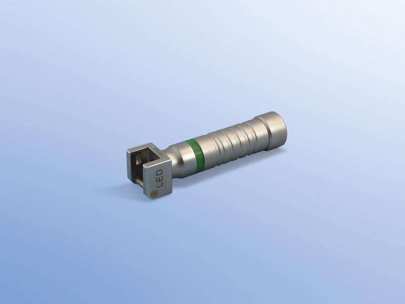 Držiaky, 90.003.09.002, Kompletný držiak s LED diódou s batériami- novorodenecký