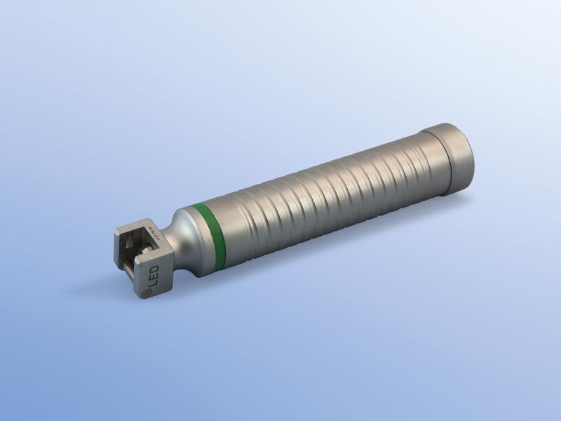 Držiaky, 90.003.09.660, Kompletný držiak s LED diódou s batériami - pre dospelých